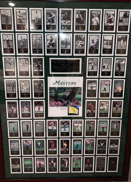 Masters Cards Set w/ Masters Program - Framed Collage - Latitude Sports Marketing