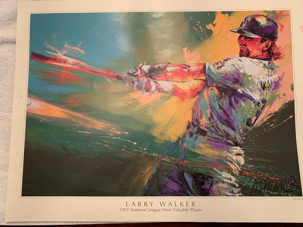 Larry Walker Lithograph by Malcolm Farley