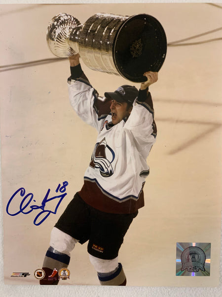 Chris Drury Signed 8x10 Photo - Latitude Sports Marketing