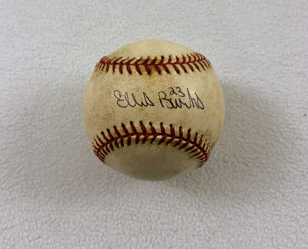 Ellis Burks Signed Baseball