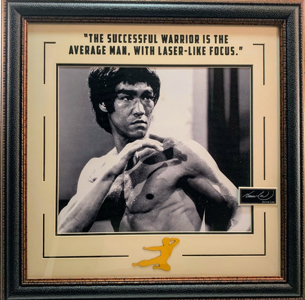 Bruce Lee 11x14 Framed Photo with Laser Engraved Signature and Quote