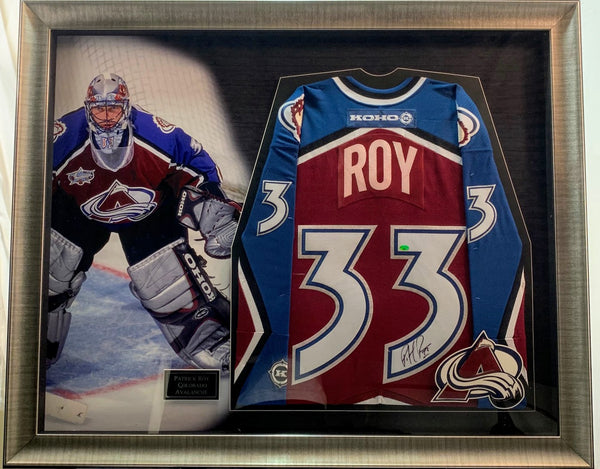 Patrick Roy Colorado Avalanche Signed Jersey Deluxe Framed Shadow Box LSM COA