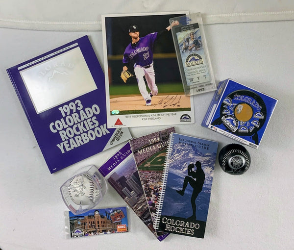 BIG Colorado Rockies Fan Package + 3 FREE Pictures!!!