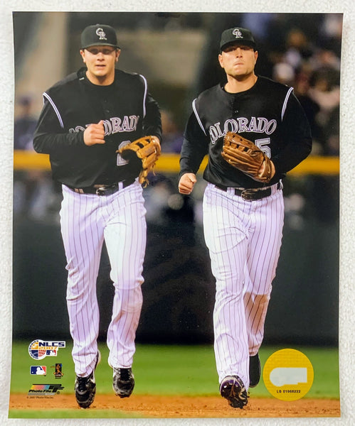 Matt Holliday & Troy Tulowitzki Colorado Rockies 8x10 Photo