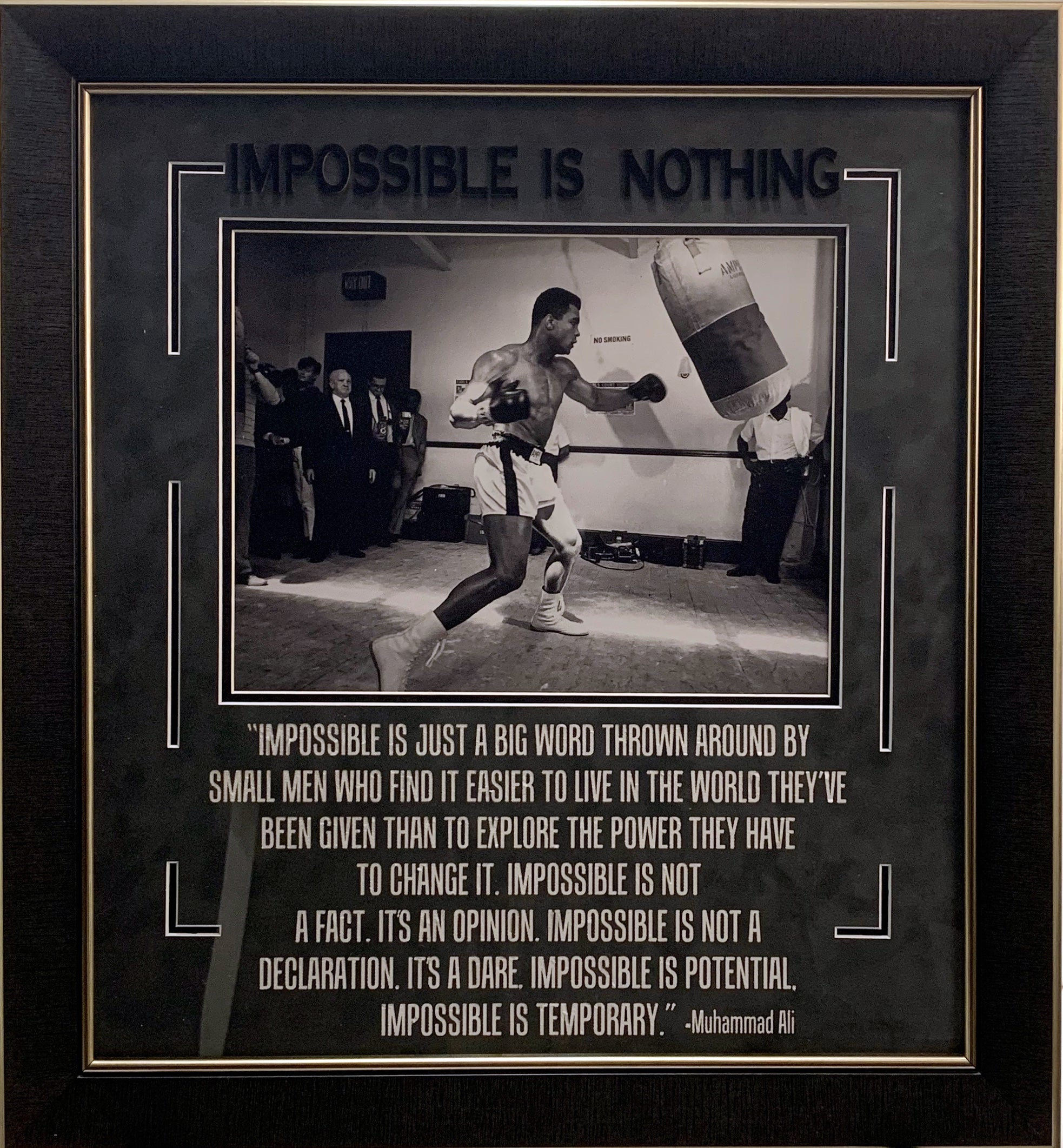 Muhammad Ali - Framed 11x14 Photo w/ Quote - Latitude Sports Marketing