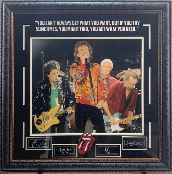 Rolling Stones Framed Photo w/ Logo & Laser Signatures - Latitude Sports Marketing