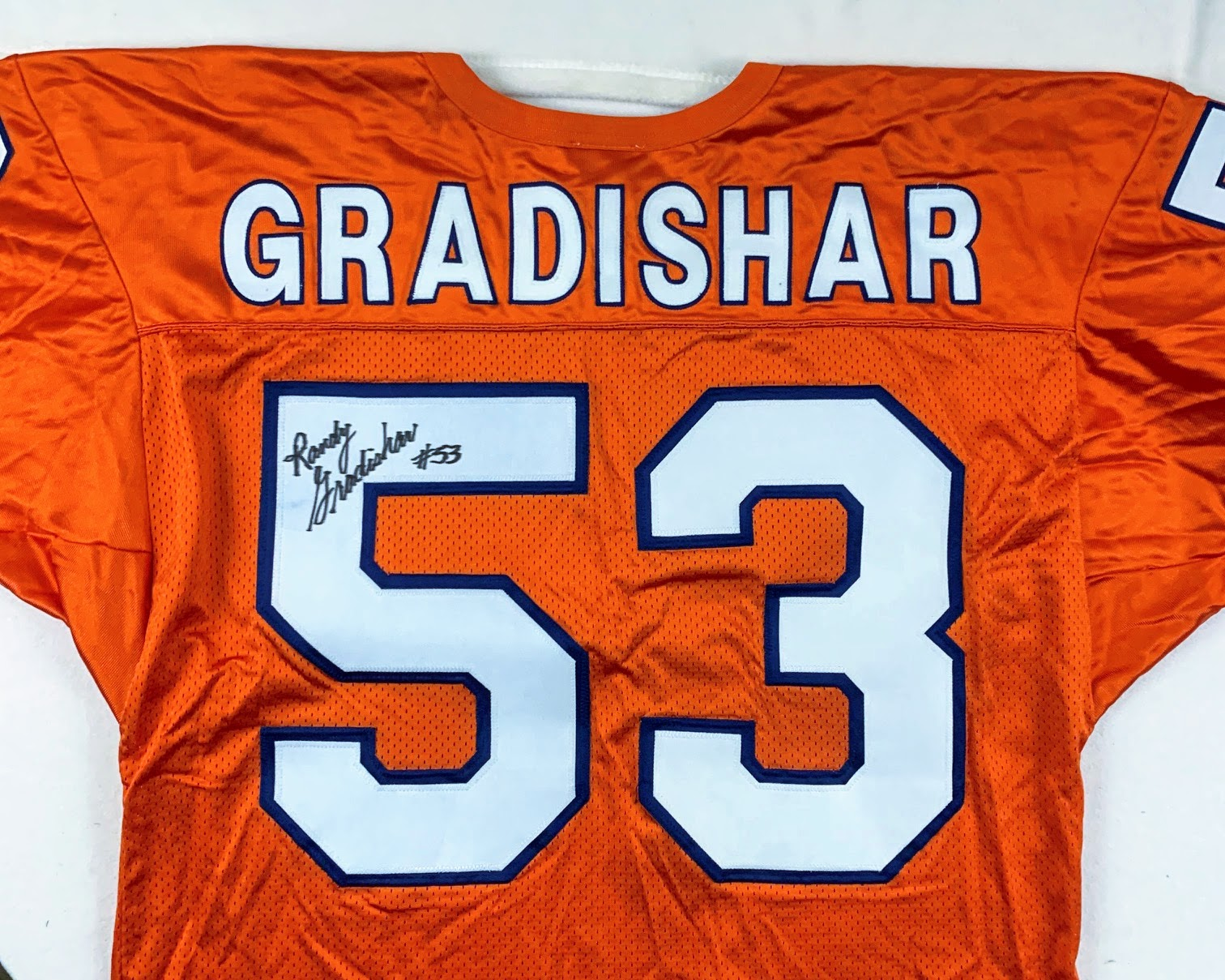 Randy Gradishar Signed Denver Broncos Orange Wilson Jersey LSM COA