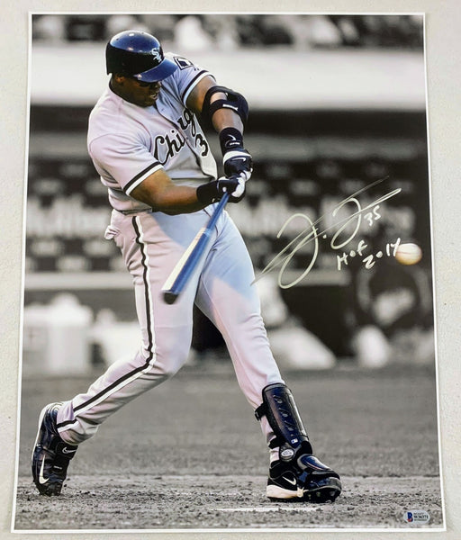 Frank Thomas Signed Chicago White Sox 16x20 Photo LSM Beckett COA