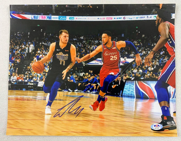 Luka Doncic Signed 11x14 Photo LSM PSA COA