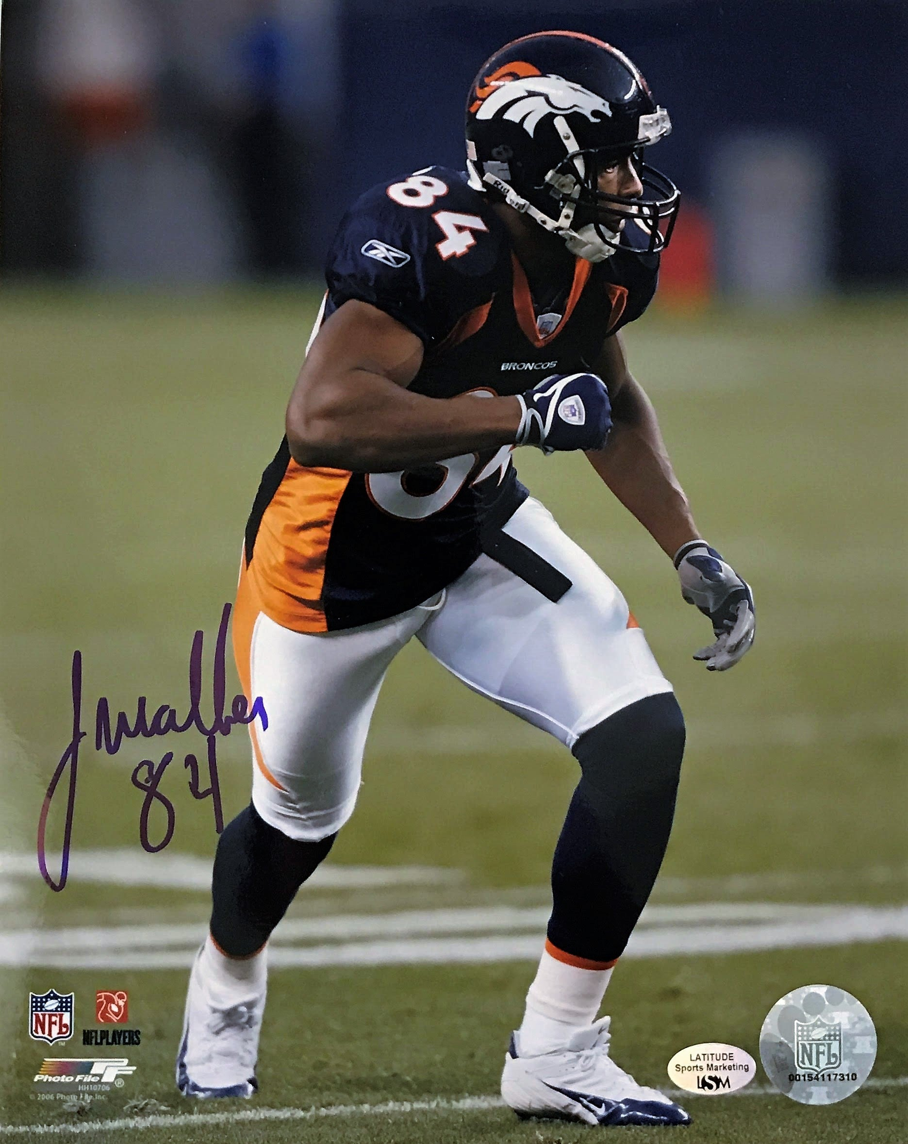 Javon Walker Hand Signed 8X10 Photo