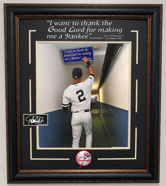 Derek Jeter Framed 11x14 Photo with Quote and Laser Signature