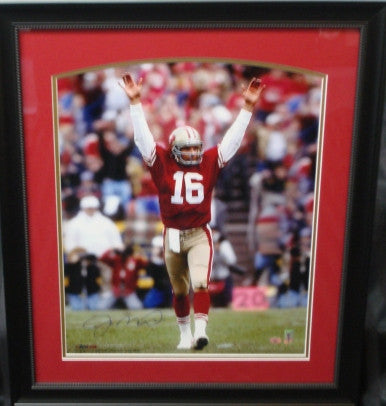 Joe Montana signed framed 16x20