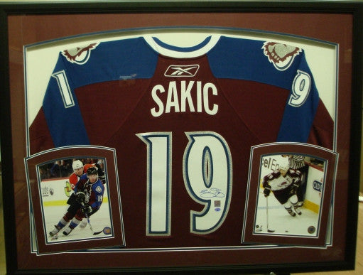 Joe Sakic Framed Colorado Avalanche Jersey