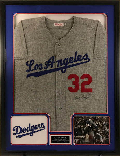 Sandy Koufax Signed Los Angeles Dodgers Jersey - Deluxe Frame