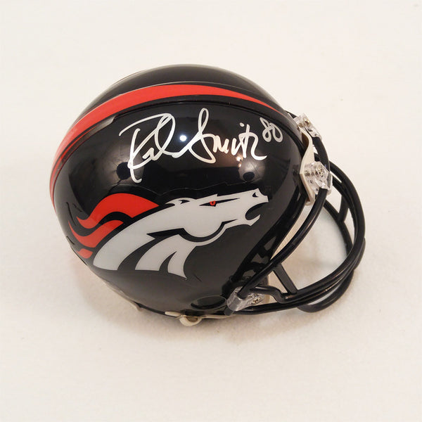 Rod Smith Signed Broncos Mini Helmet - Latitude Sports Marketing