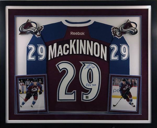 Nathan MacKinnon Signed Avs Burgandy Jersey - Deluxe Framing
