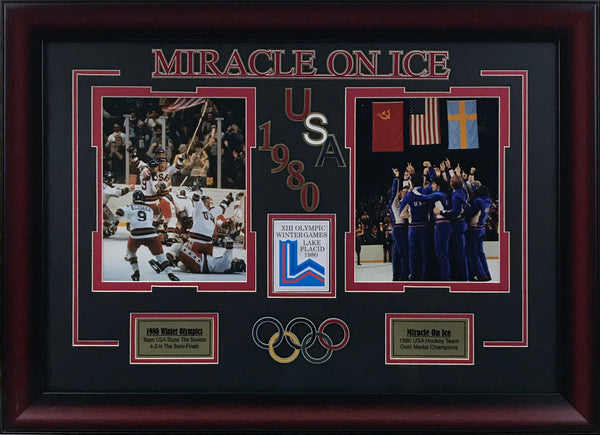 Miracle on Ice 2-Photo Framed Collage