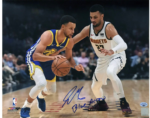Jamal Murray Signed 11x14 Photo with Inscription - Defending Curry