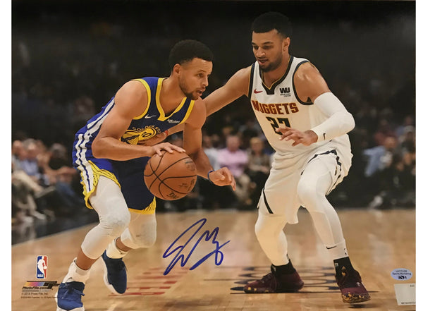 Jamal Murray Signed 11x14 Photo - Defending Curry
