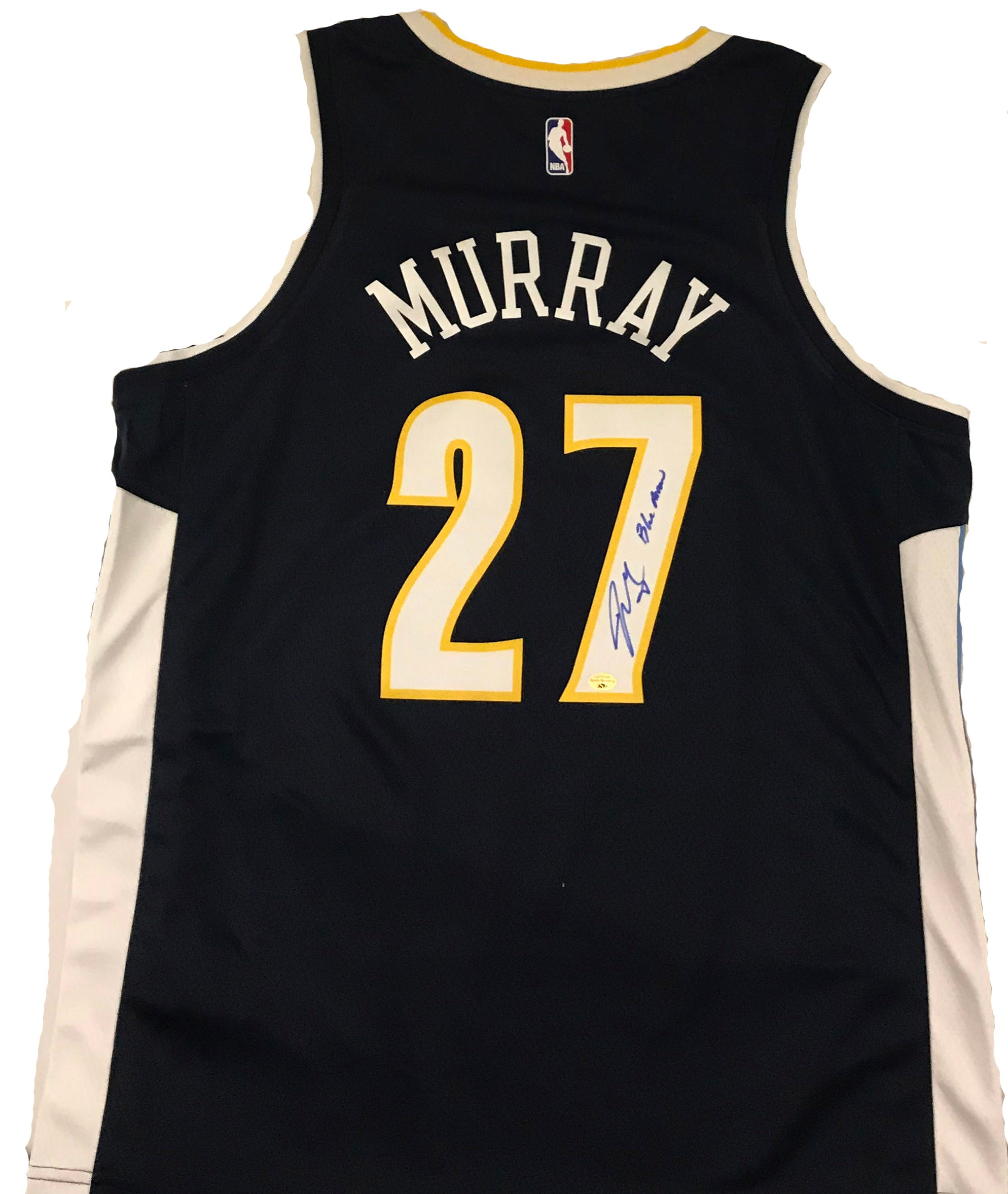 Jamal Murray Signed Denver Nuggets Blue Nike Jersey with Inscription