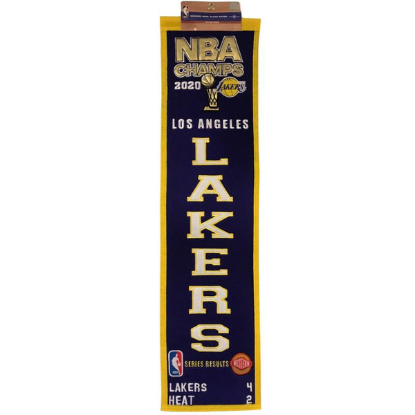 Los Angeles Lakers 2020 NBA Finals Champions Heritage Banner