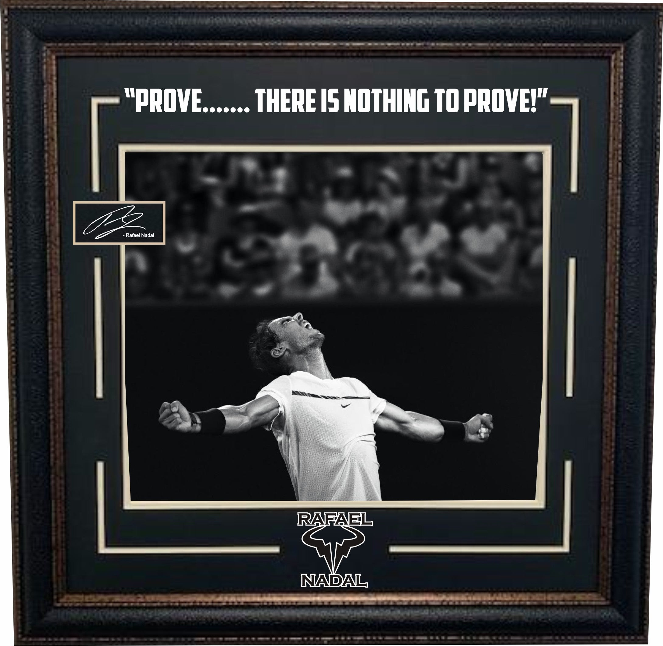 Rafael Nadal Framed Photo With Laser Signature