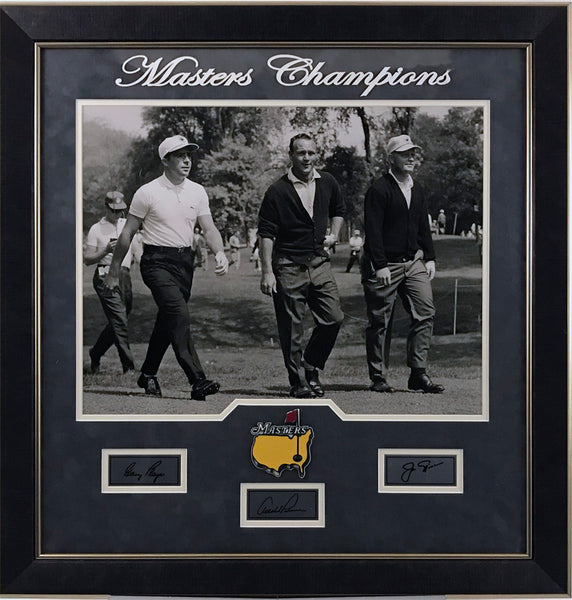 Player, Nicklaus, and Palmer 16x20 with Laser Signatures Framed - Latitude Sports Marketing