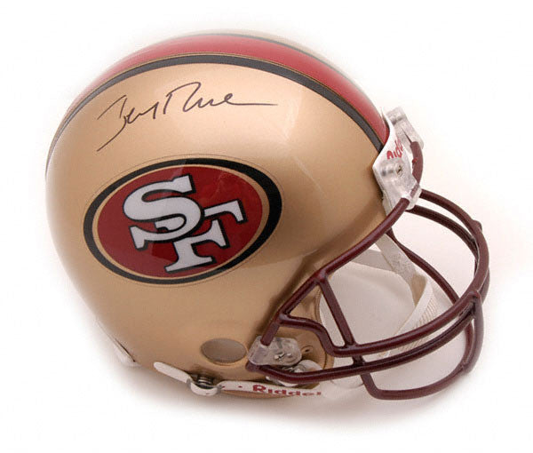 Jerry Rice auto. Pro Line Helmet LSM RICE COA - Latitude Sports Marketing
