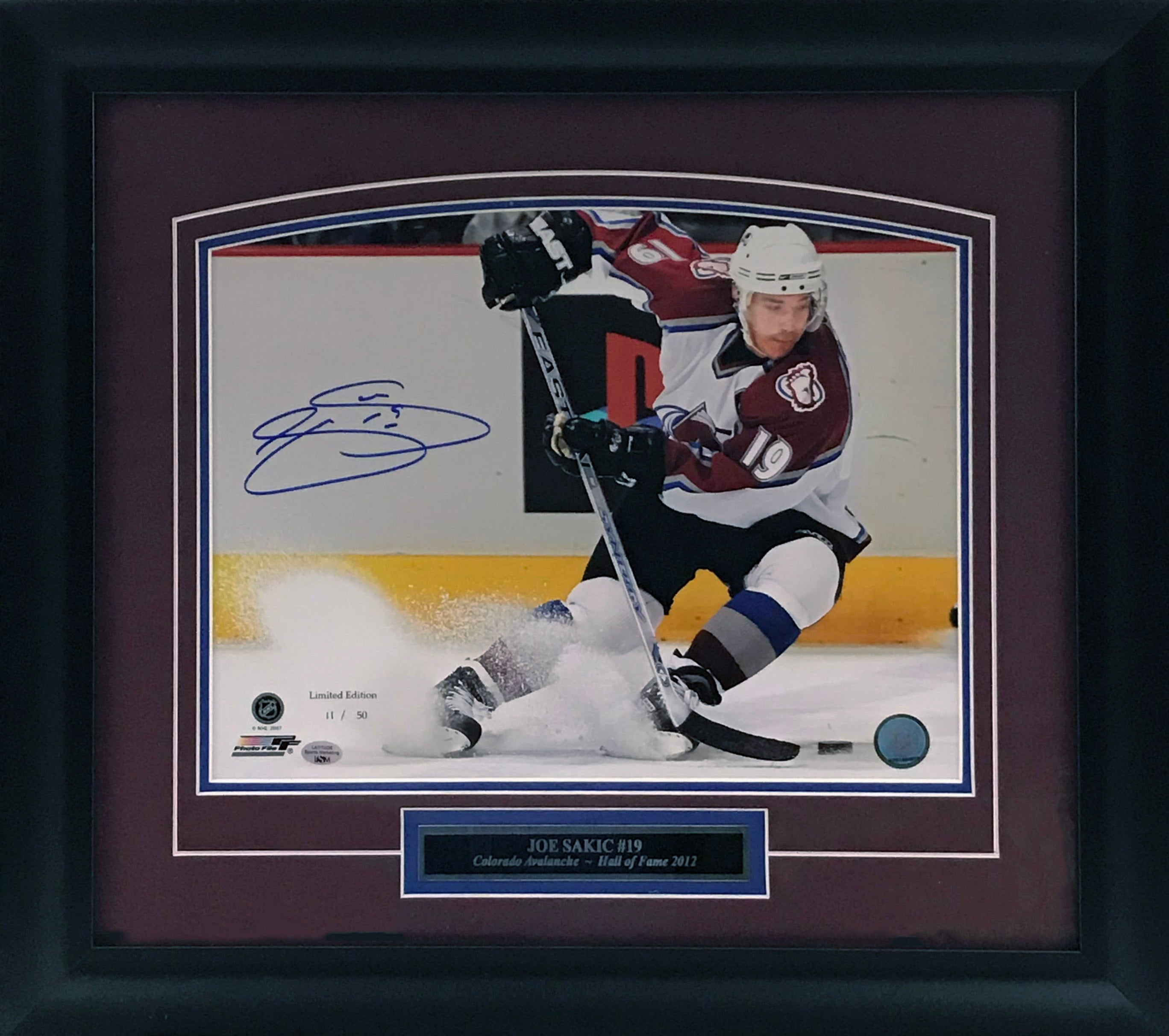 Joe Sakic Signed and Framed Limited Edition 8x10 Photo