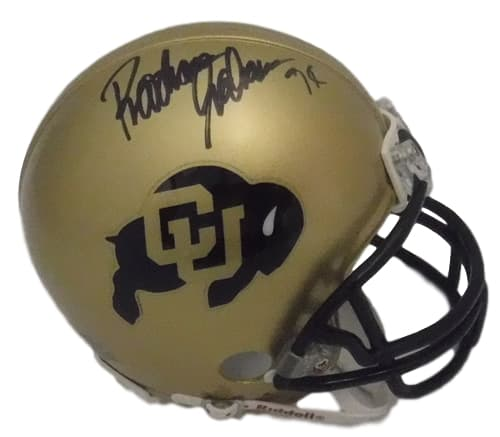 Rashaan Salaam Signed CU Buffs Mini Helmet - Latitude Sports Marketing