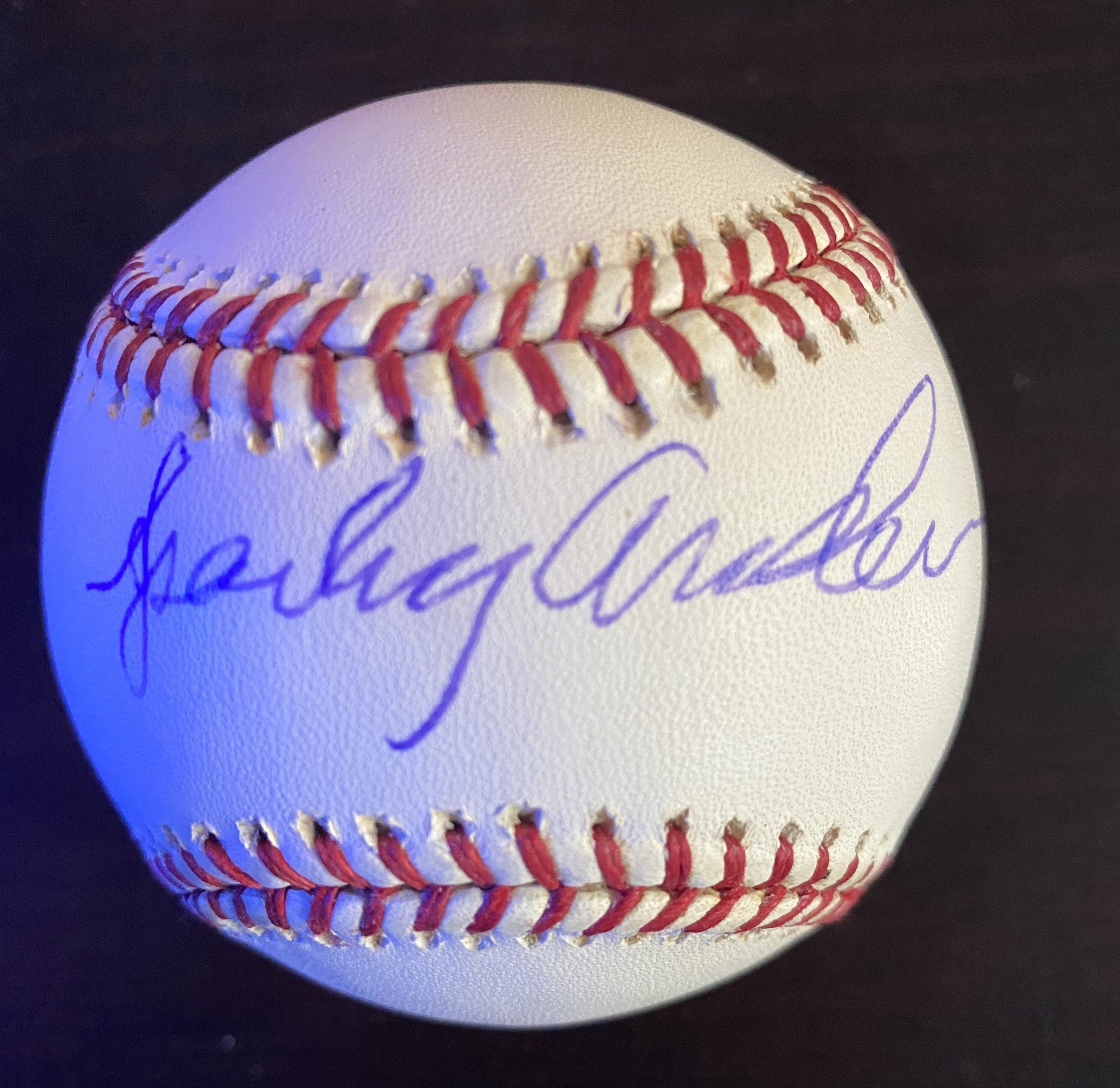 Sparky Anderson Signed Baseball LSM COA