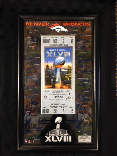Spring Cleaning: Super Bowl XLVIII Commemorative Ticket Framed Piece