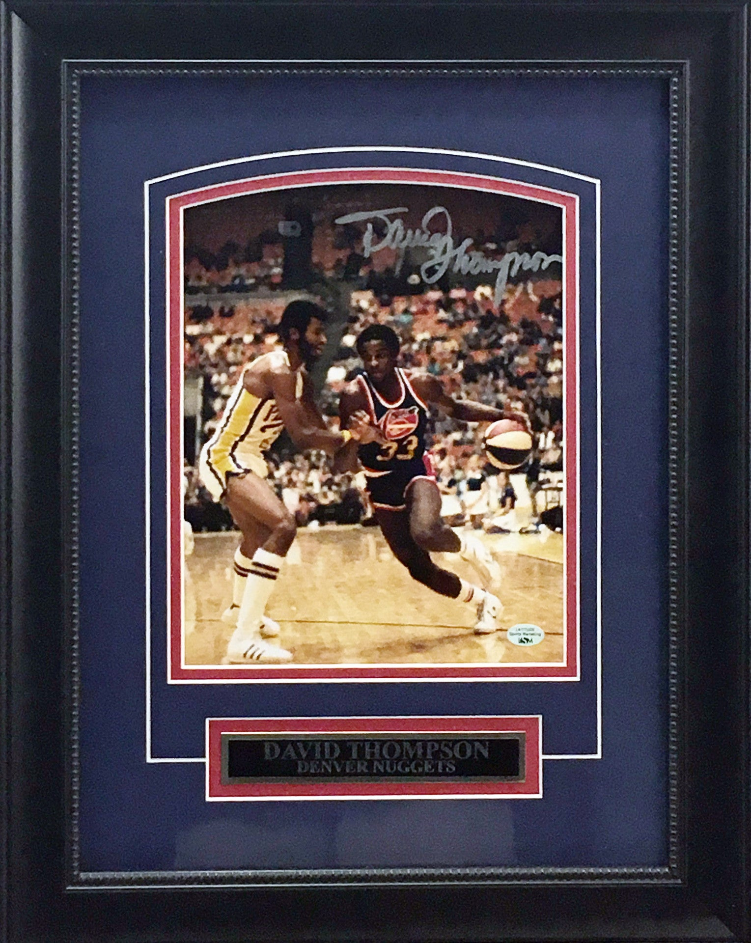 David Thompson Signed Photo - Deluxe Framing