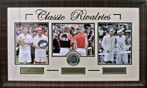 Framed Tennis Classic Rivalries - Latitude Sports Marketing