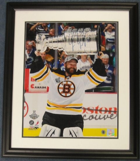 Tim Thomas Autographed Framed Signed 16x20 Photo - Latitude Sports Marketing