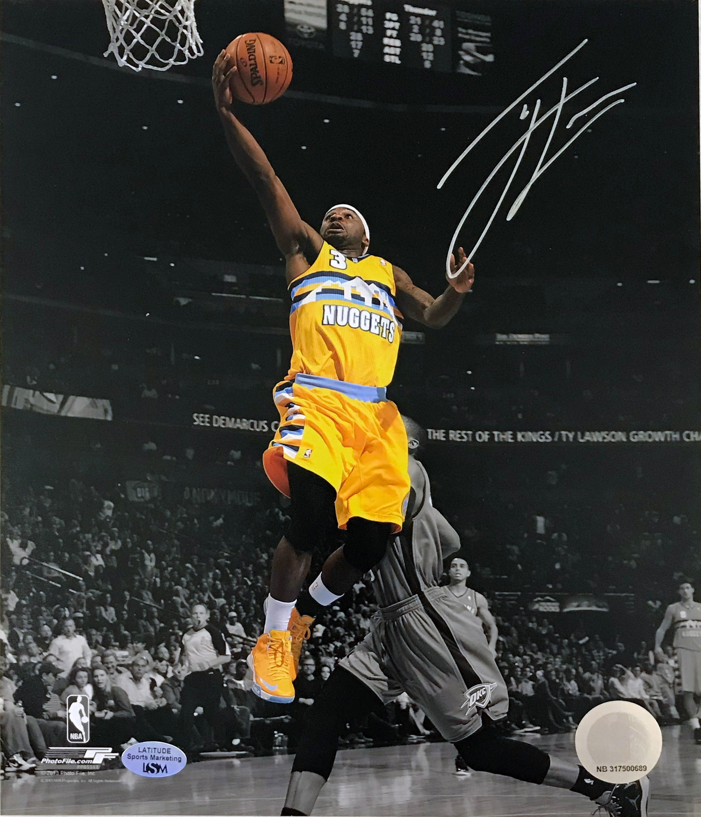 Ty Lawson Signed 16x20 Photo - Latitude Sports Marketing