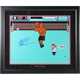 Mike Tyson Signed and Framed Punch Out 16x20 Photo