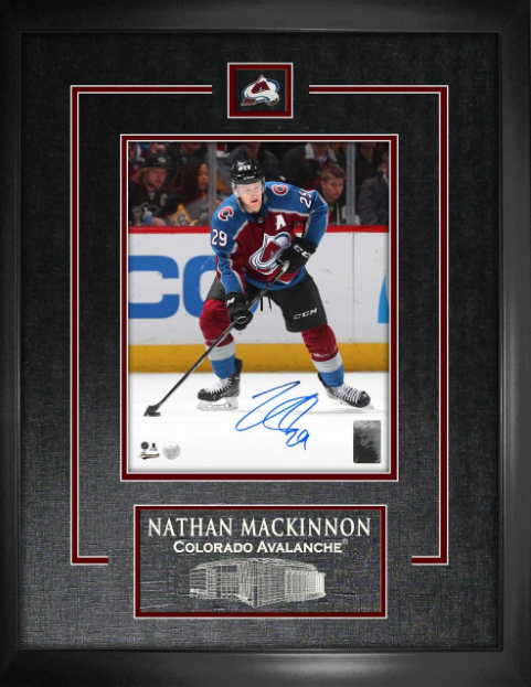Nathan MacKinnon signed Avalanche Collage w/ Pin & Etching - Latitude Sports Marketing