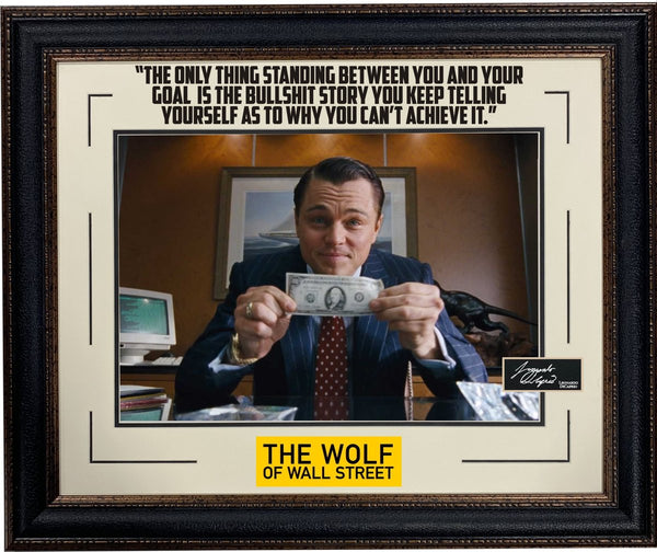 Wolf of Wall Street Photo with Laser Signature framed