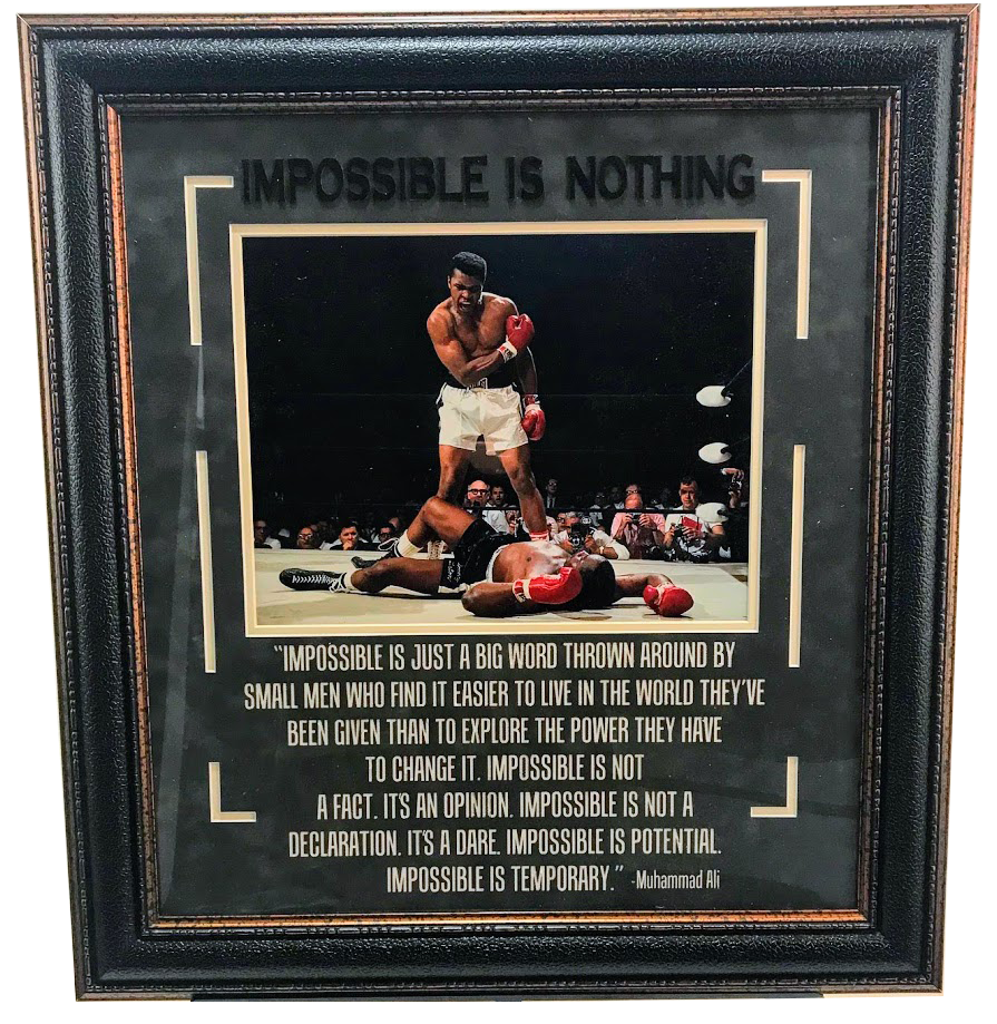 Muhammad Ali Deluxe Framed 11x14 Photo with Quote - Latitude Sports Marketing