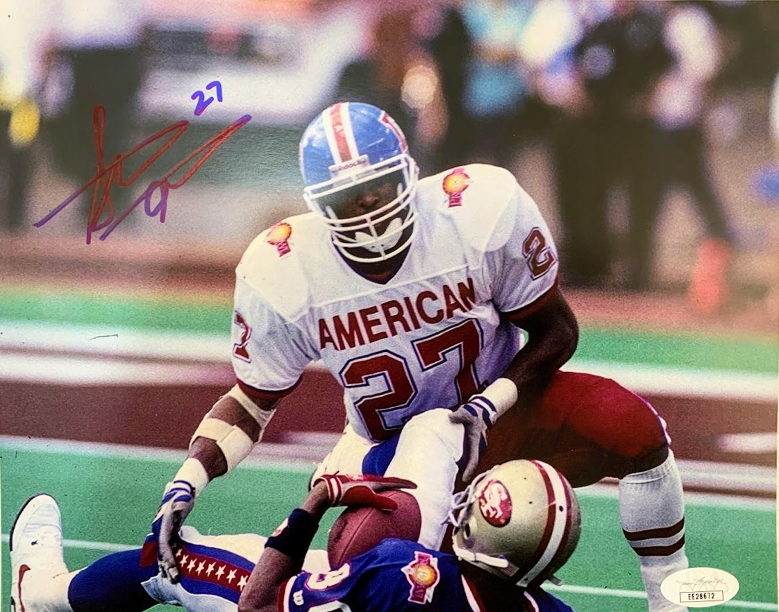 Steve Atwater Signed 8x10 Pro Bowl Photo - Latitude Sports Marketing