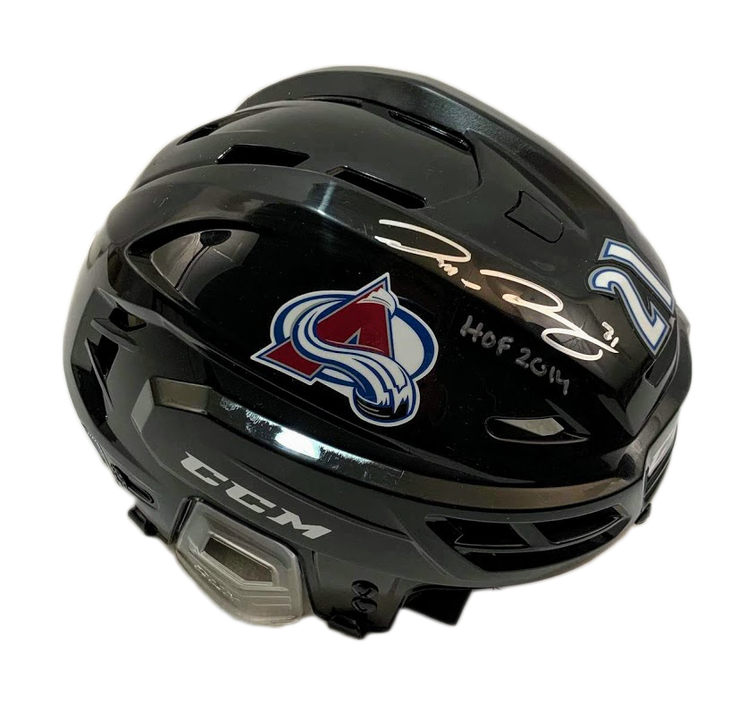 Peter Forsberg Signed CCM Helmet (Black) w/ Inscription - Latitude Sports Marketing