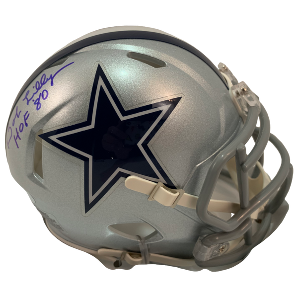 Bob Lilly Signed & Inscribed Dallas Cowboys Mini Helmet - Latitude Sports Marketing
