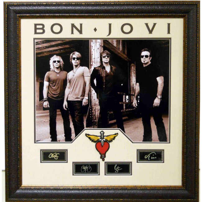 Bon Jovi Laser Signature Collage - Latitude Sports Marketing