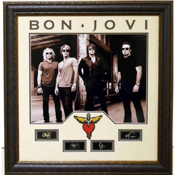 Bon Jovi Laser Signature Collage