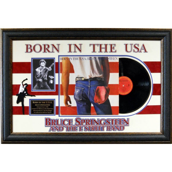 Bruce Springsteen Born In The USA Album Collage - Latitude Sports Marketing