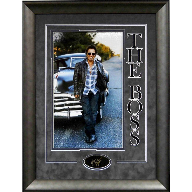 16x20 Bruce Springsteen Photo with laser Engraved Signature - Latitude Sports Marketing