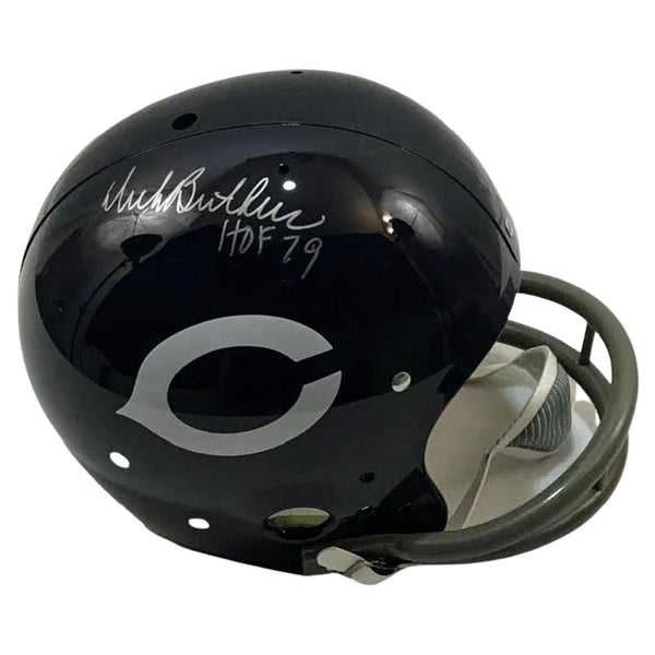 Dick Butkus Signed Chicago Bears Helmet Mounted Memories COA
