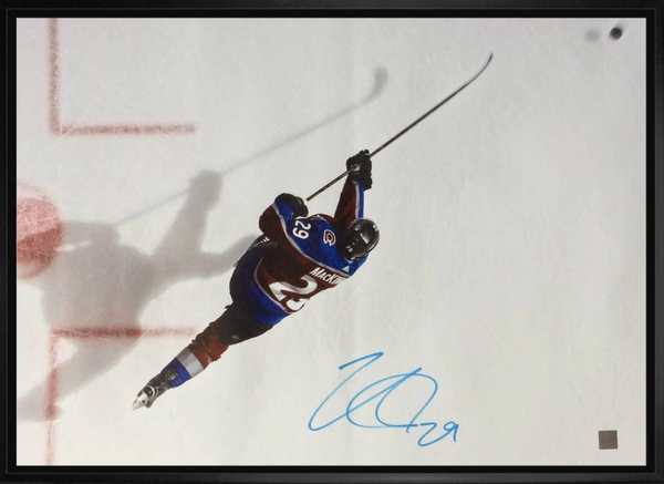Nathan MacKinnon Autographed 20x24 Canvas Framed, Avalanche - Latitude Sports Marketing
