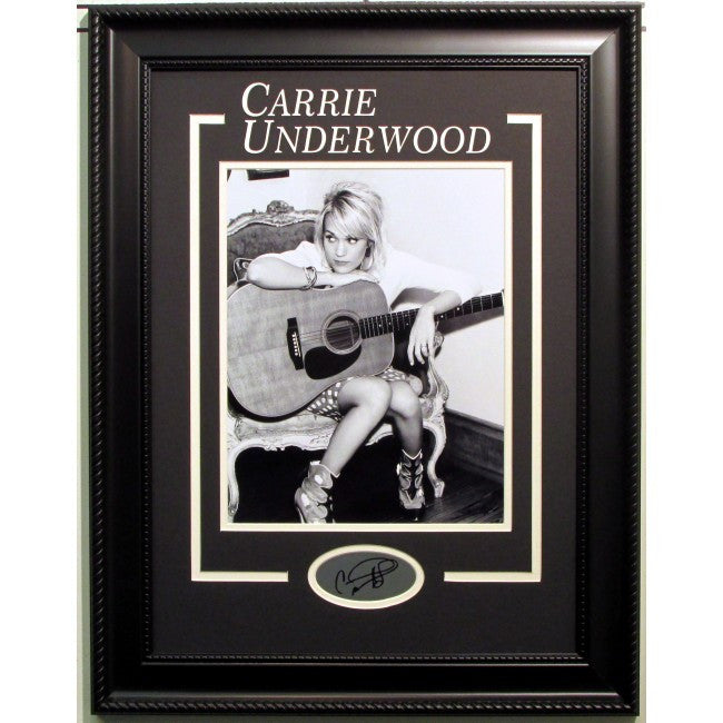 Carrie Underwood Framed 11x14 with Laser Signature